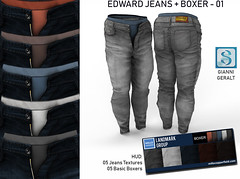 My 3D work: Edward jeans + boxer 01 (Millo Copperfield (Jamill Copperfield)) Tags: millocopperfield jamillcopperfield signature event jeans secondlife pants boxer brief menswear