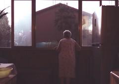 La mamma aspetta sempre qualcuno. (#mimesi) Tags: mom finestra rosa ricordi luce estate mamma famiglia colore fujixt20