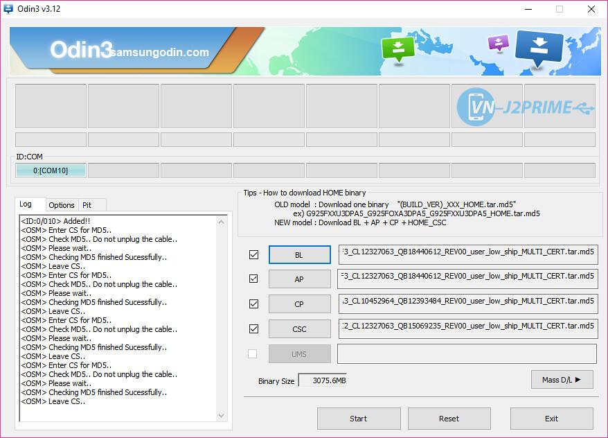 Duyệt các file của firmware