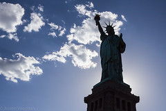 Liberty (avaughan585) Tags: statue liberty clouds blue silhouette new york nyc ny america usa us american city sun