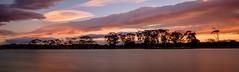 Watchman lake sunset (lizcaldwell72) Tags: trees hawkesbay newzealand sunset napier cloud water sky light
