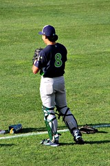 LANA AKAU (MIKECNY) Tags: catcher baseball vermontlakemonsters as minorleague nypennleague