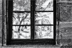 Blind Emperor in the Mirror of History... (Ody on the mount) Tags: anlässe augustus caesar em5ii fototour mzuiko40150 omd olympus reflexionen skulpturen spiegelung tübingen bw monochrome sw badenwürttemberg deutschland de