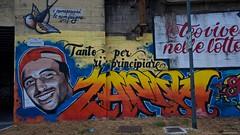 IMGP5483 Teo (Claudio e Lucia Images around the world) Tags: viarodano lambrate milano murale murales graffito graffiti street streetart muro wall ferrovia railway pentax pentaxk3ii sigma sigma1020 pentaxart sigmaart city urban teo lotta fight