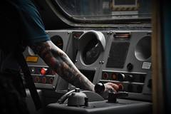 Starting Up (Lewis_Hurley) Tags: arm tattoos man person starting enginestart controls cab highspeedtrain hst class43 43002 43