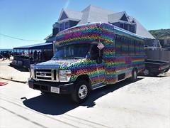 DSCF3036, The newest Funk Bus, July 2018 (a59rambler) Tags: capecod massachusetts beach cars