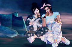 This is what makes us girls (Pheebes Cheng) Tags: sl secondlife slphotography virtualworld babygirl bestfriends bff pajamaparty