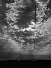 Sur la route (rknecht) Tags: sky lines clouds noiretblanc blackandwhite light lumiere sun soleil rayons acros monochrome fuji fujifilm fujix100f x100f contrast contraste groupenuagesetciel