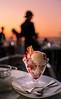 Dessert at the Sunset Terrace's (sapphire_rouge) Tags: odaiba 東京 お台場 japan レインボーブリッジ 湾岸 seaside 夕日 dessert sweets スイーツ rainbowbridge レストラン デザート restaurant sunset tokyo