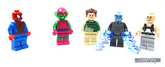 Spiderman and some of their unfriendly foes (WhiteFang (Eurobricks)) Tags: lego marvel superheroes electro spiderman ultimate movie mcu sony blockbuster electricity polybag promotional