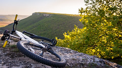 Riding Weekend (mikhailkorzhalov) Tags: canon sigma sigma1750 17mm f28 1728 nature naturallight landscape landscapes flora trees leaves mountain ravine combe green whitesky sky rocks stones woodland bicycle wheel bike mountainbike horizon horizont