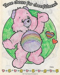 Carebear power! (bearritto) Tags: daisy crowley daisycrowley toddler toddleedoo alice bad seed bebe body sl secondlife second life family daughter cute kawaii sweet adorable photo snapshot photography child children roleplay kid baby rp spam flickr art picture drawing colour color colouring crayon marker pencil illustration play playing carebear care bear stare rainbow power