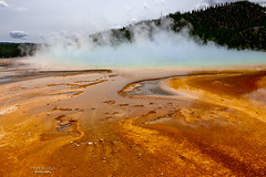 Prism of Light ~Spectrum of Life (mariola aga) Tags: yellowstonenationalpark wyoming midwaygeyserbasin grandprismaticspring spring hot steam microbialmat landscape nature coth coth5 thegalaxy