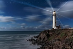 The Pigeon Point Lights (Matt Granz Photography) Tags: lighthouse pigeonpoint pacificcoast ocean waves fresnellights night clouds longexposure le california sanmateo pacific water sky evening lights mattgranz nikon religious icon symbol
