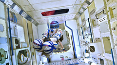 Homo ultimus (Matt West) Tags: leicester shopped manipulation space scifi sciencefiction iss europeanspaceagency columbusmodule internationalspacestation earth apocalypse nationalspacecentre