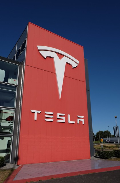 Tesla logo, From FlickrPhotos
