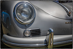 Porsches (drpeterrath) Tags: canon eos5dsr 5dsr closeup car vintage classic show auto automobile california losangeles sanmarino silver porsche blue color outdoor headlight bumper design abstract dof