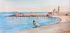 Le phare de l'amirauté d'Alger (Abdelkrim Hamri peintre) Tags: algérie alger arts peinture aquarelle galerie couleurs paint