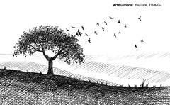 Cómo dibujar un árbol con pájaros volando - Muy fácil - Pluma fuente (artedivierte) Tags: arte dibujo artedivierte paisaje árbol aves boceto plumafuente artistleonardo tutorial leonardopereznieto tutto3 patreon