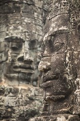 Faces in Stone (hkokko) Tags: siem ancient bayon cambodia face mysterious siemreap statue stone temple travel