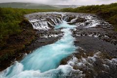 Blue (pdxsafariguy) Tags: water nature river landscape waterfall iceland turquoise blue cascade bruarfoss europe motion blur moss grass fog mist clouds tomschwabel
