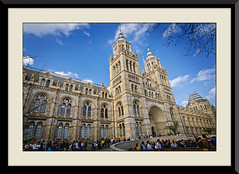 Natural History Museum (PixelRange) Tags: nikond7000 pixelrange nikkor18300mm sanjaysaxena londonmuseum london giantstructure architecture naturalhistorymuseumlondon museum historymuseum indoor bluesky clouds building people gate maingate entrance