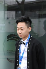 Lyu Haotian ready for action (zawtowers) Tags: world snooker championship 2018 betfred crucible theatre sheffield thehomeofsnooker first round saturday 21st april afsnikkor50mmf18g 50mm fifty lyu haotian chinese player qualifier ready relaxed calm morning session portrait