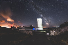 Nash Point Lighthouse (dpt78) Tags: milkyway night sky lighthouse nashpoint astro astrophotography long exposure nikon sigma lightpainting vale glamorgan coast wales stars solar system