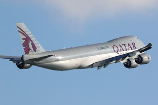 A7-BGB, 747-8F, Qatar Airways, Hong Kong