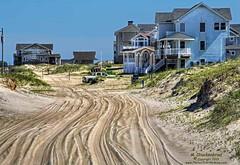 Carova's Beach-houses on Sandpiper Road (PhotosToArtByMike) Tags: carovabeach sandpiperroad houses outerbanks beachhouses obx atlanticocean curritucknationalwildliferefuge carova 4wd dunes sanddunes northcarolina nc outerbanksnorthcarolina currituckcounty