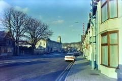 Alexandra Road, Aberystwyth circa 1991 (pedrik) Tags: film aberystwyth wales uk ceredigion prakticamtl5b digitizedbyslr gimp gmic negative fuji100 street urban 52292018 cymru