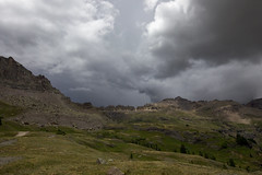 Storm approaching (Jeff Mitton) Tags: governorbasin sanjuanmountains thunderstorm wildflowers colorado wilderness scenic earthnaturelife wondersofnature