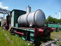 Preserved Bowaters Fireless Locomotive No. 1 03062018b (Rossendalian2013) Tags: sittingbournekemsleylightrailway narrowguage preserved railway train firelesslocomotive 040f kemsleydown station andrewbarclay 1876 bowatersno1