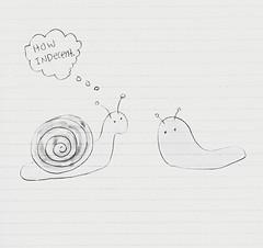 high school was a nightmare but i miss it anyway -- 8 of 8 (○ Hanna Lee ○) Tags: cartoon doodle humor funny outsiderart rawart lowbrowart lowbrow artistsonthespectrum rawartist artnaif artbrut naiveart femaleartist femaleartists snail slug snails slugs
