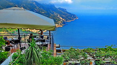 Ravello, Villa Cimbrone Outlook (gerard eder) Tags: world travel reise viajes europa europe italy italia italien campania ravello paisajes panorama landscape landschaft sea seascape restaurant outdoor