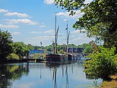 Barges at Tottenham Hale, River Lee Navigation (Linda 2409) Tags: barge boat river riverlee