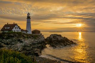 Golden Morning At Portland Head Light