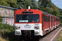 AVG VT2E als RE13 (Ersatzzug) in Dortmund-Aplerbeck Süd (Stefan Markus) Tags: avg nbseev tamron70210mm tamron70210mmf4divcusd tamron nikond5300 nikon railroad eisenbahn railcar triebwagen 38ab 35ab vt2e germany deutschland northrhinewestphalia nordrheinwestfalen dortmund aplerbeck