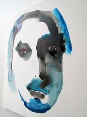 Blue Face-Portrait (benconservato) Tags: benconservato emmakidd painting art illustration primate portrait artbrut sketch paint