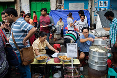 Food street (SaumalyaGhosh.com) Tags: food street people color india gathering colors streetphotography chinese kolkata