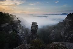 Fernweh (Philipp Zieger - www.philippzieger-photographie.de) Tags: landscape a6500 sony sunrise fog nebel basteigebiet höllenhund natur landschaft deutschland sächsischeschweiz elbsandsteingebirge saxonswitzerland