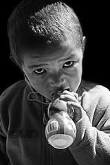 Tibetan boy black & white (bag_lady) Tags: blackwhite gyantse tibet tibetanboyblackwhite phalkormonastery