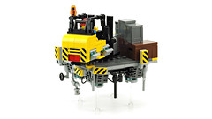 AirCity (de-marco) Tags: lego future cyberpunk town city floate flying aircity forklift platform