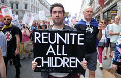 Reunite All Children. (alisdare1) Tags: reunite children donaldtrump visit britain theresamay uspresident americanpresident demonstration march rally protest london potus trump humanrights justice unitedkingdom specialrelationship fujixpro2 fujifilm xpro2 16mmf14 fuji16mm fujix