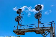 NW CPL Signals (Railroad Gal) Tags: fallenflag nw norfolkandwestern cplsignals colorpositionlights railroadsignals railfan railfanning femalerailfan radfordva virginia appalachianmountains appalachian bluesky clouds spring sunshine sky railroad