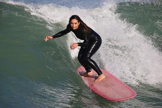 Surfers Lyall Bay