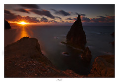 Volcanic Sea Rock Needle (Max Angelsburger) Tags: madeira island volcanic atlantic ocean panoramic summer seascape windy great weather evening sunset cliffs tides elements wind clouds colorful sun pontodevista pontadesãolourenço needles rock