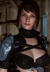 Trying out the Smile To Camera mod (Nickyxylr) Tags: skyrim girl katarina armor mod pc