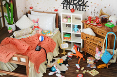 New Bedroom Setup (Moonrabbit_ly) Tags: diorama dollhouse rement
