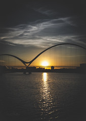 Infinity Sunset July 2018-1 (simon.mccabe.5) Tags: simonmccabe council view clouds cloudscape water river sunset uk tees stockton bridge infinity